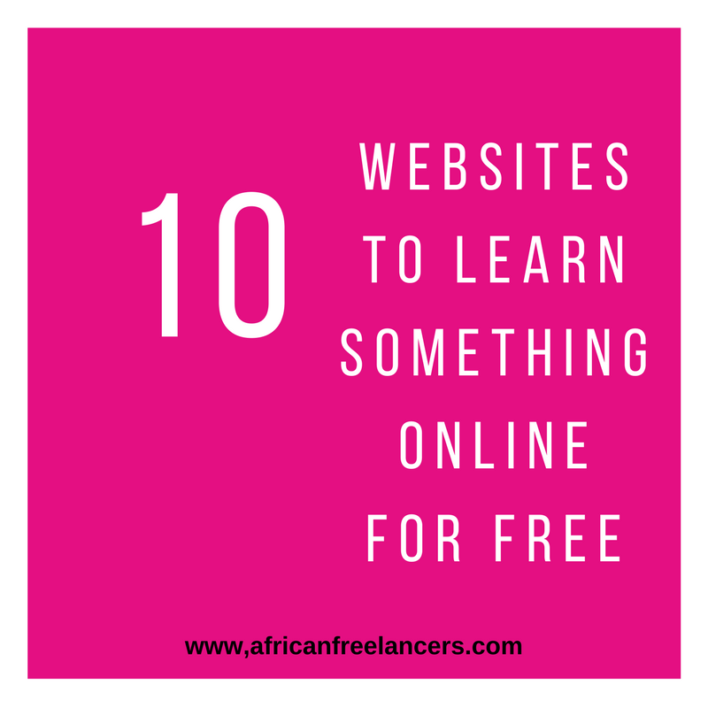 10 WEBSITES TO LEARN SOMETHING ONLINE FOR FREE