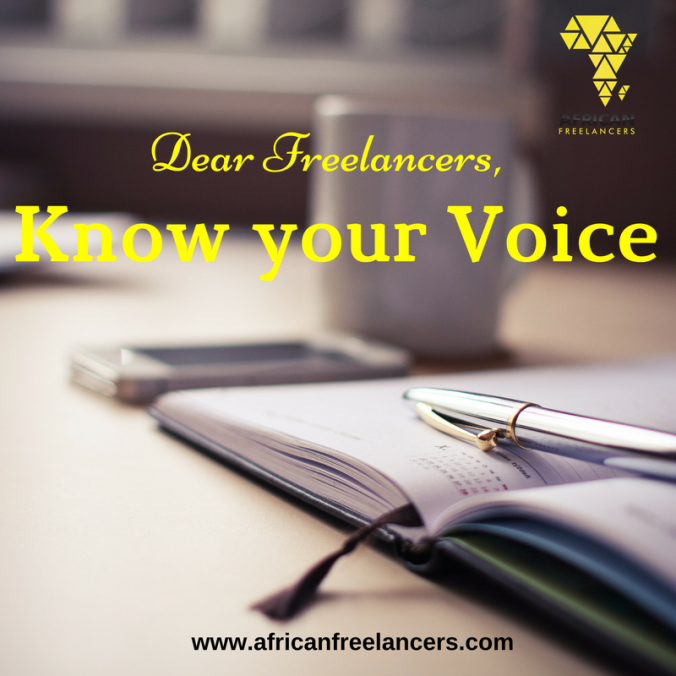 Dear Freelancers, Know your Voice