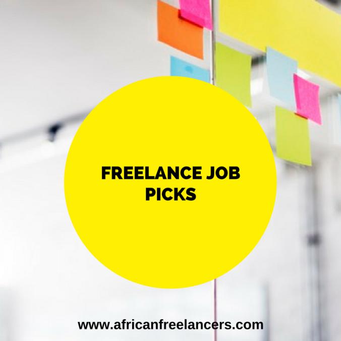 Freelance Job Picks (Vol. 1)